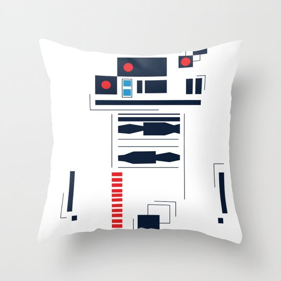 R2D2 Abstract Throw Pillow
