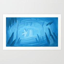 Frozen Cave Art Print