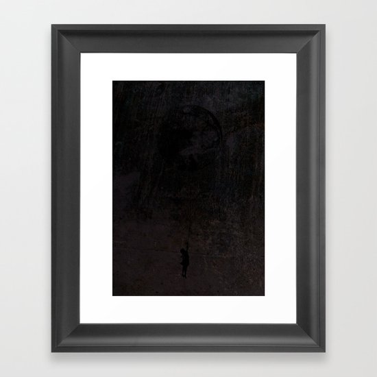 The secret of a girl at night Framed Art Print
