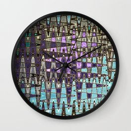 Glass Tile Flooring Abstract Wall Clock