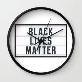 BLACK LIVES MATTER - Lightbox Wall Clock