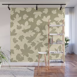 Envelope leaves decor. green ofwhite. Wall Mural
