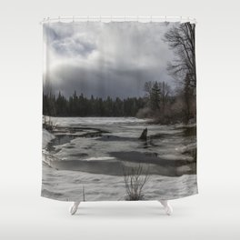 An Intricate Landscape Shower Curtain