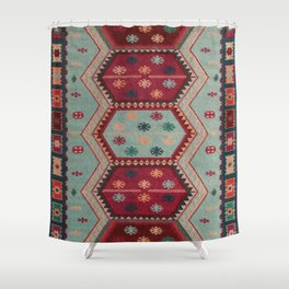 V31 Traditional Colored Moroccan Carpet. Shower Curtain