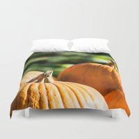 vegetable Duvet Covers featuring  autumn vegetable by Karl-Heinz Lüpke