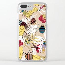 jungle bugs Clear iPhone Case