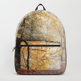 Path through the Autumn Forest Backpack