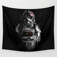pilot Wall Tapestries featuring Pilot 02 by Rafal Rola
