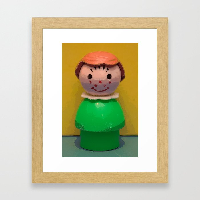 Fisher Price Little People, Girl 2 Framed Art Print