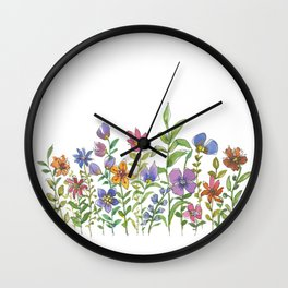 A colorful flower garden Wall Clock