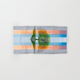Digital painting of the seasons of the year in a tree Hand & Bath Towel