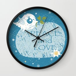 Christmas Dove Wall Clock