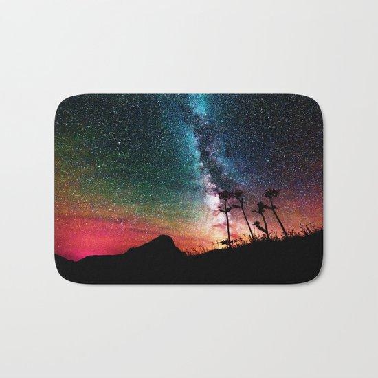 Colorful Milky Way Landscape Bath Mat