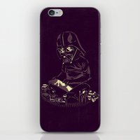 dark side iPhone & iPod Skins featuring Dark Side by yortsiraulo