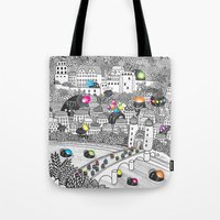 germany Tote Bags featuring Locals Only - Heidelberg, Germany by Heiko Windisch