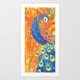 peacock art: Pretty Boy Art Print