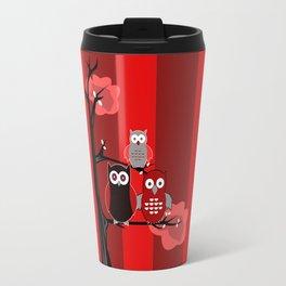 Red Owls Travel Mug