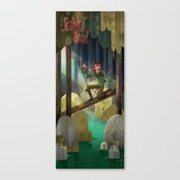 robin hood Canvas Prints featuring robin hood by camillesketchbook