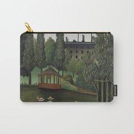View of Montsouris Park, the Kiosk (Vue du Parc Montsouris, Le Kiosque) (ca. 1908–1910) ) by Henri Rousseau Carry-All Pouch