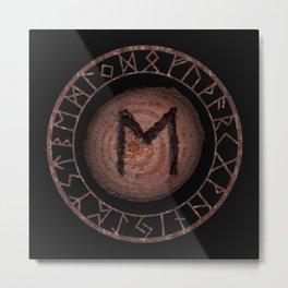 Eihwaz Elder Futhark Rune Strength, reliability, dependability, trustworthiness. Enlightenment Metal Print