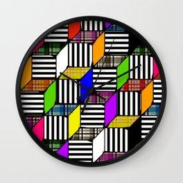 Plaid Steps Wall Clock