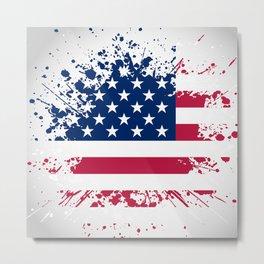 Grunge style american flag background Metal Print