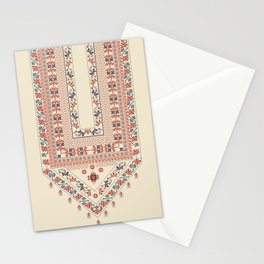Palestinian traditional embroidery motif Stationery Cards