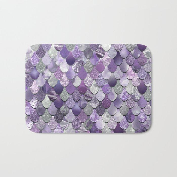 Mermaid Purple and Silver Badematte