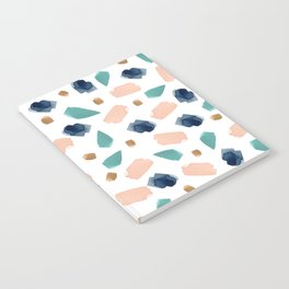turquoise, navy, pink & gold Notebook