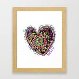 Rainbow Heart Framed Art Print