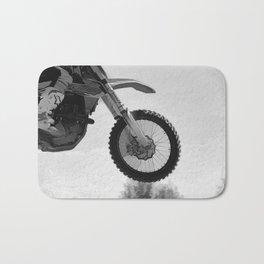 Motocross Dirt-Bike Racer Bath Mat