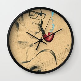 Musician Guitar and pipe Wall Clock