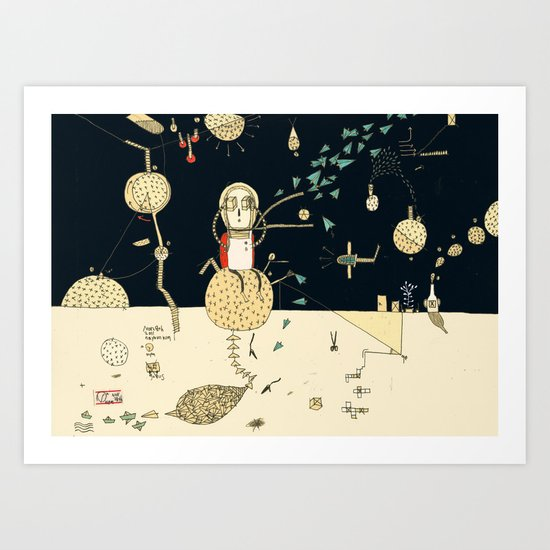 """You will not do incredible things without an incredible dream."" – John Eliot Art Print"