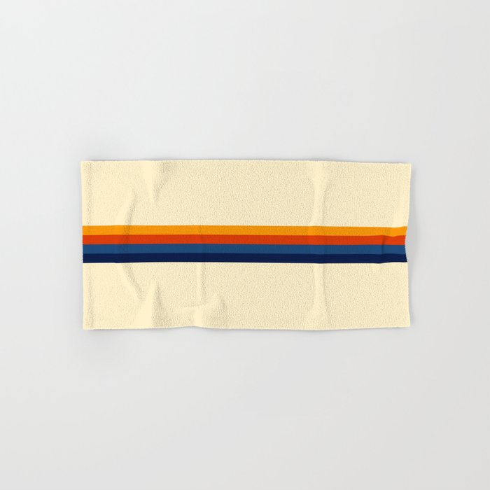 Retro Stripes Summer of Love Hand & Bath Towel