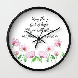 God of  Hope Wall Clock