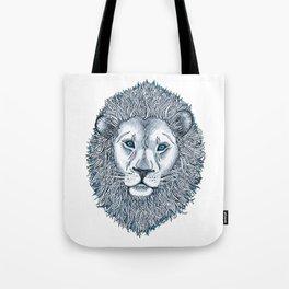 Blue Eyed Lion Tote Bag