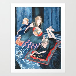 Animal Cracker Lounge Art Print