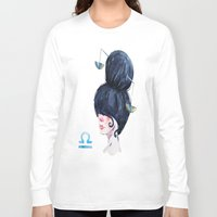 libra Long Sleeve T-shirts featuring Libra by Aloke Design