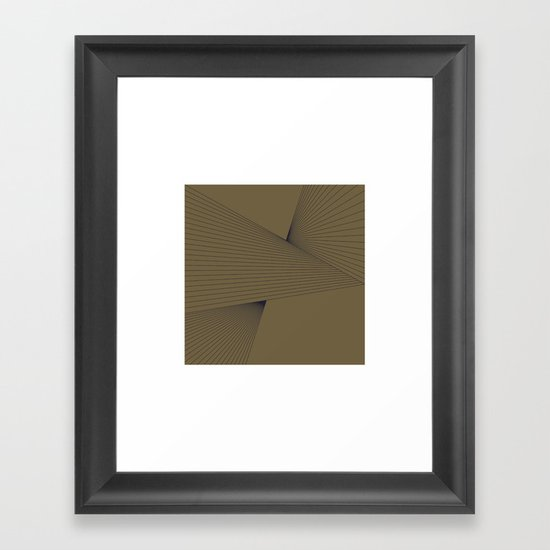 #305 Tension – Geometry Daily Framed Art Print