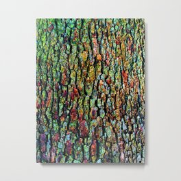 Anatural Abstraction of Tree Bark Metal Print