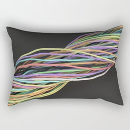 Twisted colorful wires Rectangular Pillow