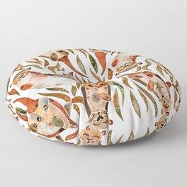 Five Otters – Sepia Palette Floor Pillow