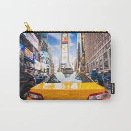 Taxi in Times Square, New York. Carry-All Pouch