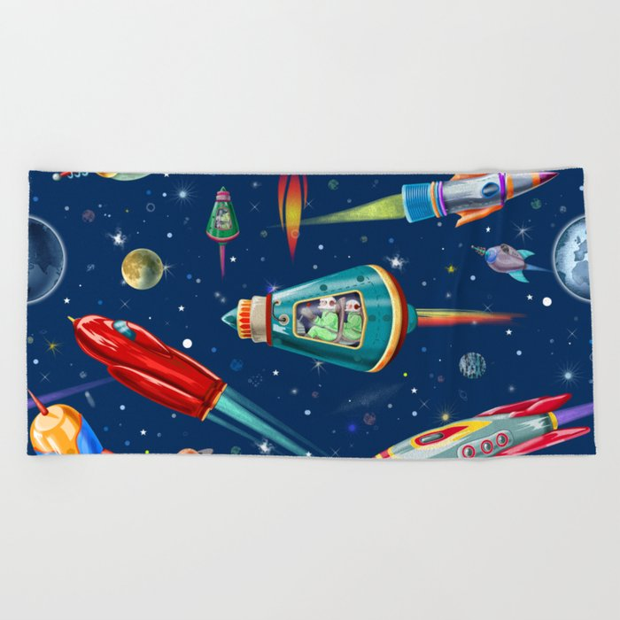 rockets in traffic Beach Towel