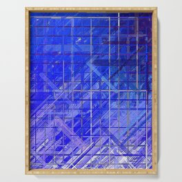 Evolution Cobalt Blue Abstract Serving Tray