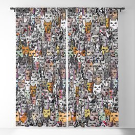 Gemstone Cats Gold Blackout Curtain