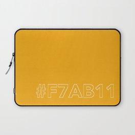 #F7AB11 [hashtag color] Laptop Sleeve