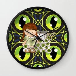 Halloween Eye Balls Wall Clock