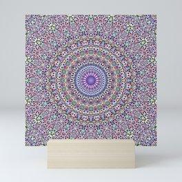 Pastel Jungle Garden Mandala Mini Art Print