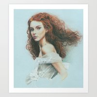 ginger Art Prints featuring Ginger by Hande Unver